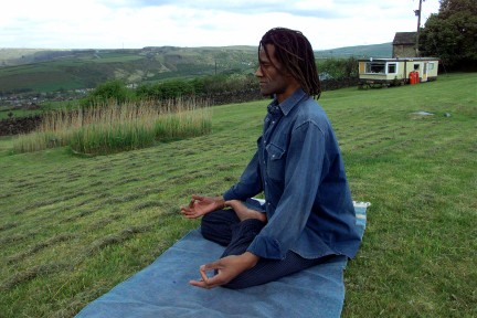 Padmasana at Higher Pot Oven Farm