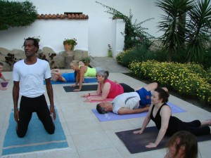 yoga class at Sultan Palas Dalyan